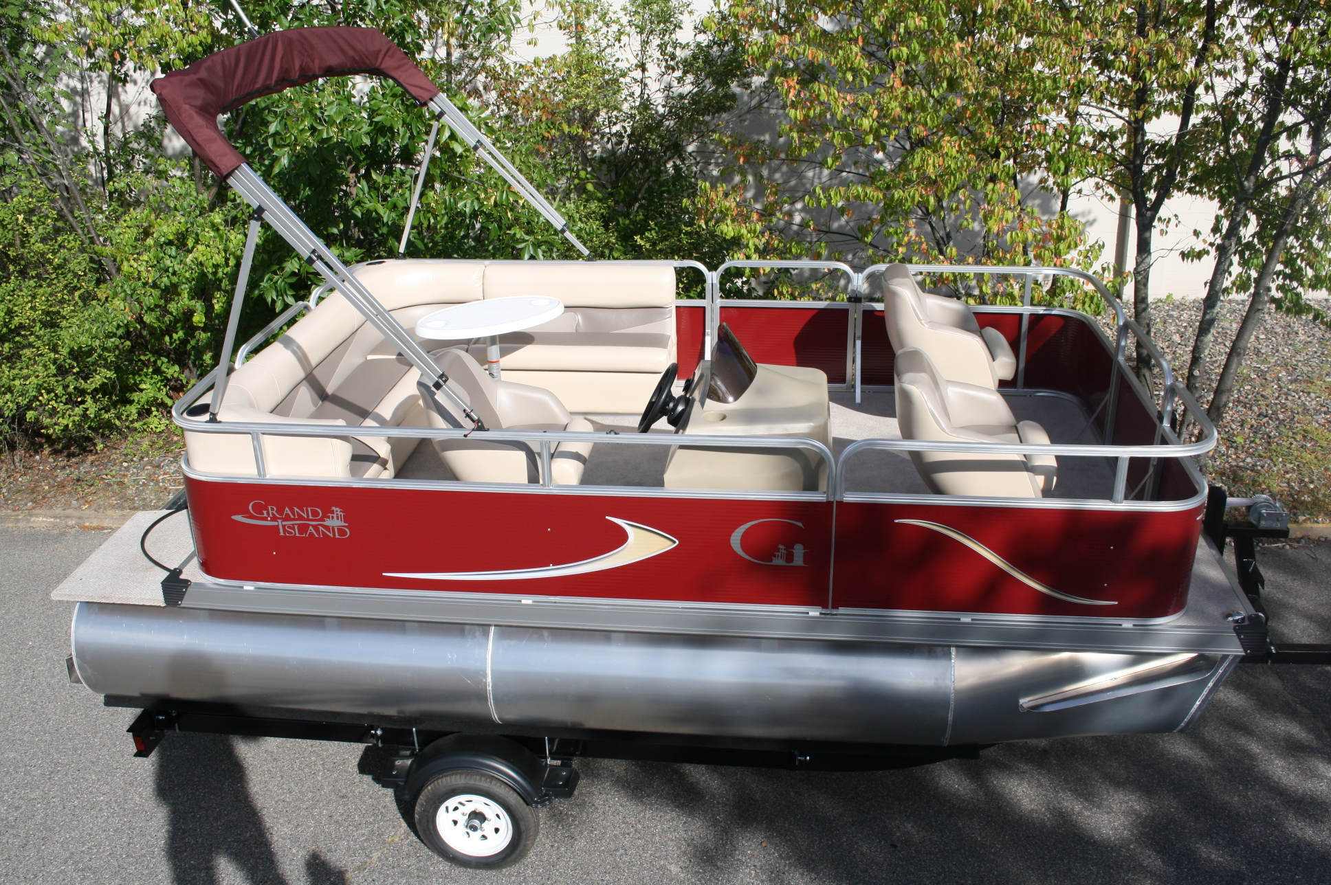 fish boat ft pontoon 16ft trailer motor marine party