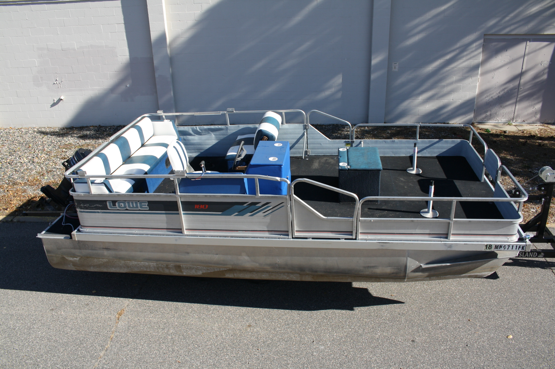 1988 18 Ft Lowe Fish Model With An Old 50 Hp Mercury 2